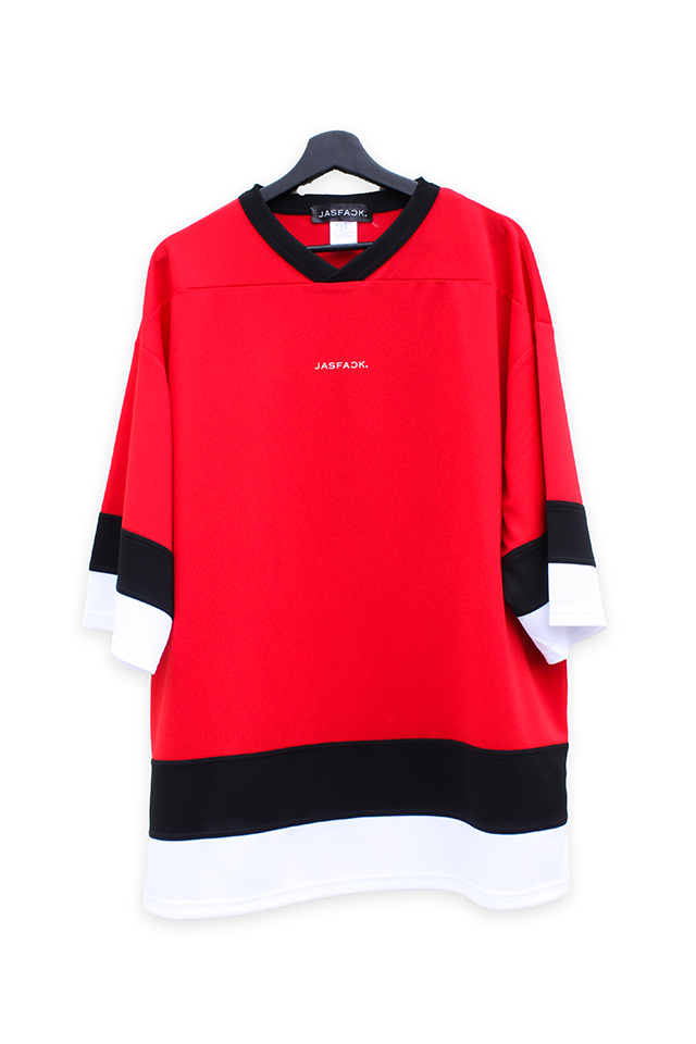 Logo Hockey Tee (JFK-021)-Red-front