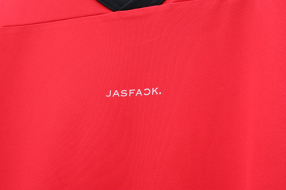 Logo Hockey Tee (JFK-021)-Red-back