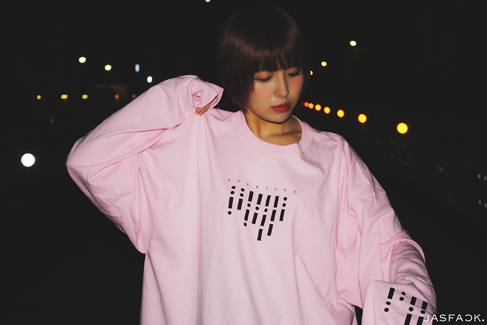 Segnale Long Sleeve Tee (JFK-019) - Pink-1
