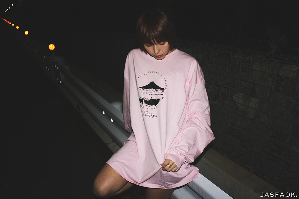 Goin' Blind Long Sleeve Tee (JFK-018) - Pink-2