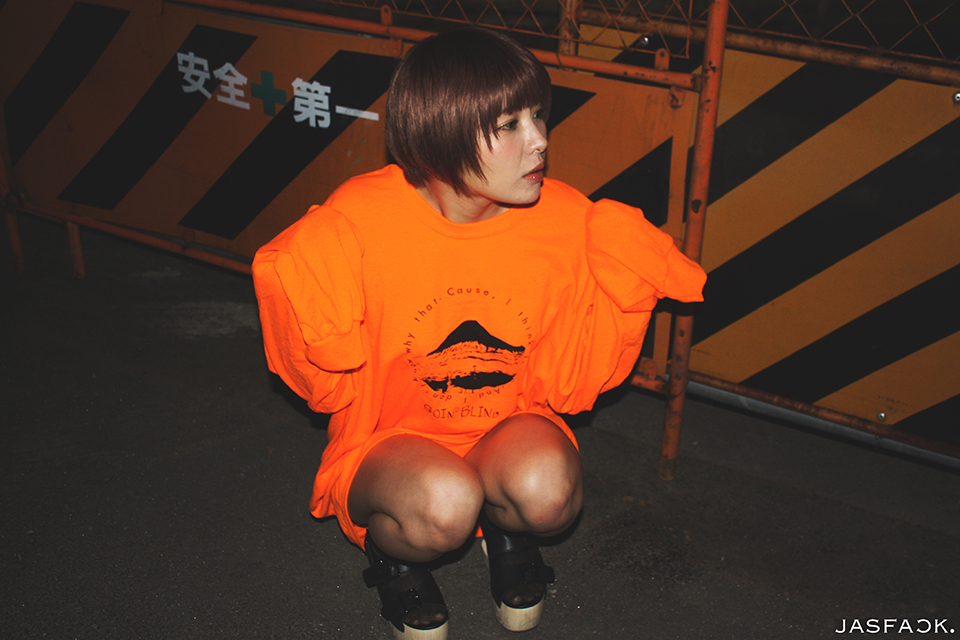 Goin' Blind Long Sleeve Tee (JFK-018) - Orange-1