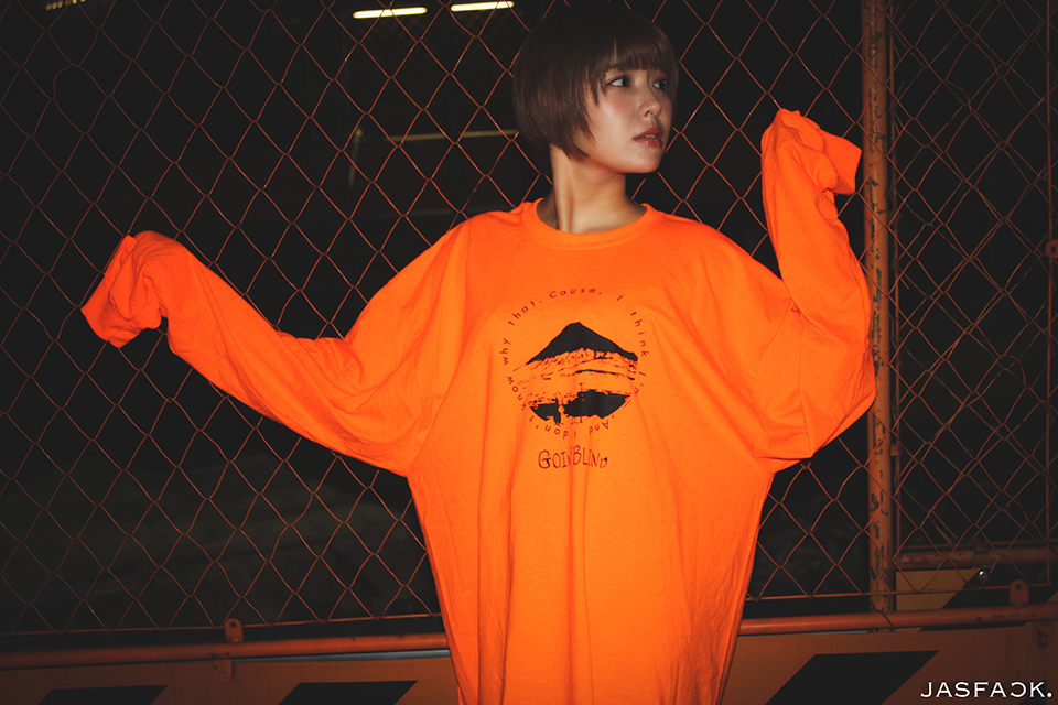 Goin' Blind Long Sleeve Tee (JFK-018) - Orange-2